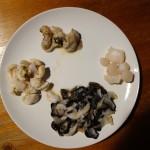 シャコ貝のお刺身